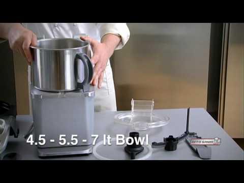 Video Combiné cutter et coupe-légumes avec variateur de vitesse DITO SAMA