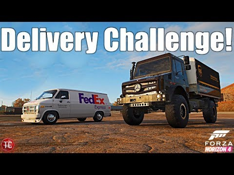 Forza Horizon 4: Package Delivery Challenge!! UPS vs Fedex