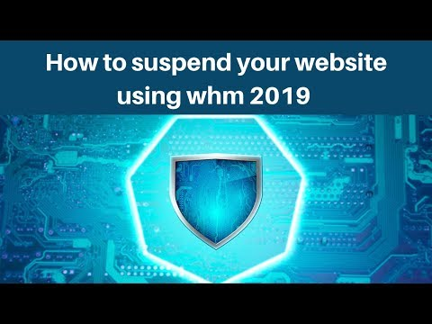 How to suspend your website using whm 2019