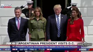 FNN: President Trump & Melania Welcome Argentina President Mauricio Macri and Wife to White House
