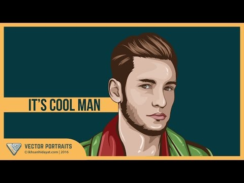 Tutorial Vector Portraits – it's cool man (Using Adobe Illustrator cc.2015)