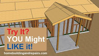 How To Build And Frame 6 Foot By 6 Foot Gable Roof Porch Extension - Home Renovation Design Ideas