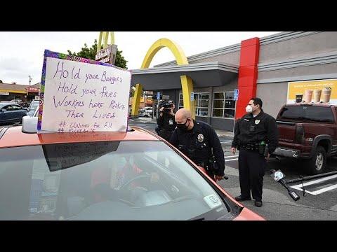 ΗΠΑ – Covid -19:Διαμαρτυρία στα McDonald's μετά το θετικό κρούσμα σε υπάλληλο…