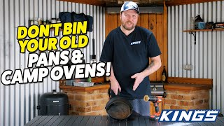 HOW TO RESTORE CAST-IRON COOKWARE! Plus spun-steel camp oven restoration tips & tricks!