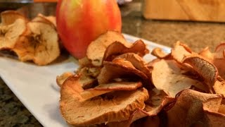 Super Healthy Homemade Apple Chips!