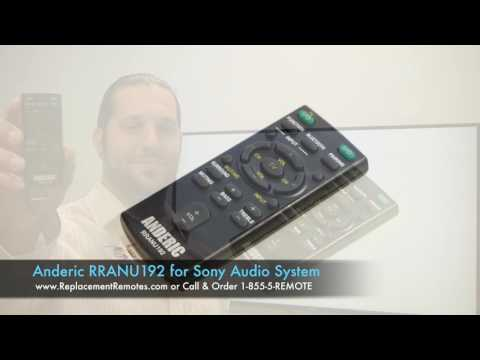 ANDERIC RRANU192 for Sony Audio System Remote Control
