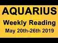 AQUARIUS WEEKLY TAROT READING - GOOD KARMA; A LOVING OFFER - May 20th-26th 2019