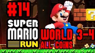 Super Mario Run - World 3-4 (All Pink, Purple and Black Coins) - Fire Bar Castle! Youch! - iOS