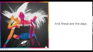 Avicii   The Days (Lyrics) Ft  Robbie Williams