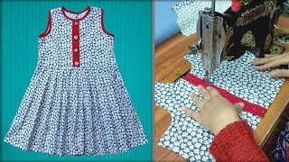 Baby Girl Frock Cutting And Stitching Full Step By Step || Frock For Girls