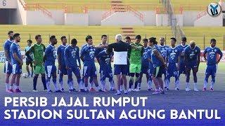 Begini Suasana Tim Persib Saat  Menjajal Rumput Stadion Sultan Agung
