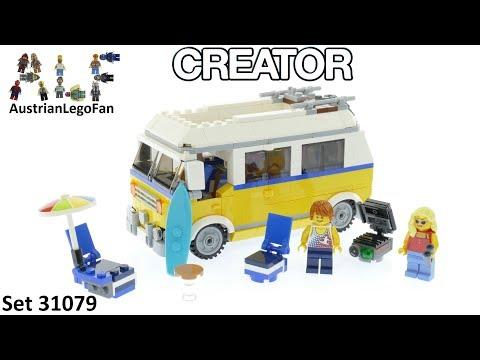 Vidéo LEGO Creator 31079 : Le van des surfeurs