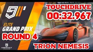 [TouchDrive] Asphalt 9 | ELITE Grand Prix | TRION NEMESIS | Round 4 | 00:32.967