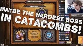 Maybe The HARDEST BOSS in Catacombs! Hearthstone Dungeon Run.