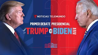 Primer debate presidencial: Trump o Biden (Español)