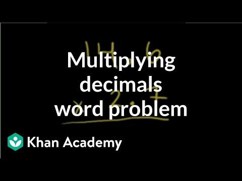 multiplying decimals word problem multiplying decimals khan academy. Black Bedroom Furniture Sets. Home Design Ideas