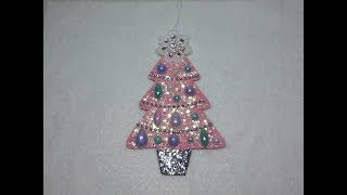 DIY~Beautiful Shabby Chic Christmas Tree Ornmanet W/ Pattern!