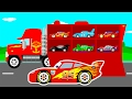 Download Video MCQUEEN CARS Transportation In Mack Truck Cartoon For Kids & Colors For Children Learn Numbers