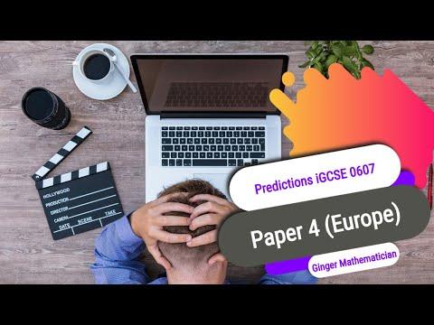 Predictions iGCSE International Mathematics Paper 4