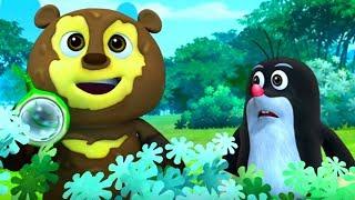 Кротик и Панда - все серии сразу - сборник 11-15 -  развивающий мультфильм для детей