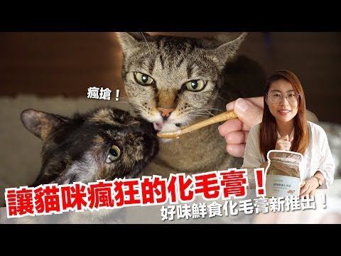 讓貓咪瘋狂的化毛膏!純天然食材