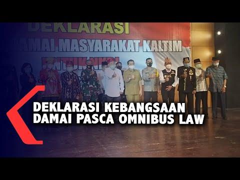 deklarasi kebangsaan damai pasca omnibus law