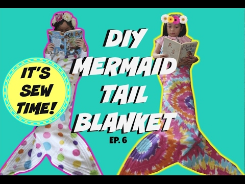 DIY MERMAID TAIL BLANKET, BEGINNER SEWING PROJECTS