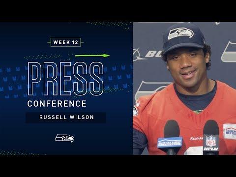 Quarterback Russell Wilson Week 12 Press Conference   Seahawks 2019