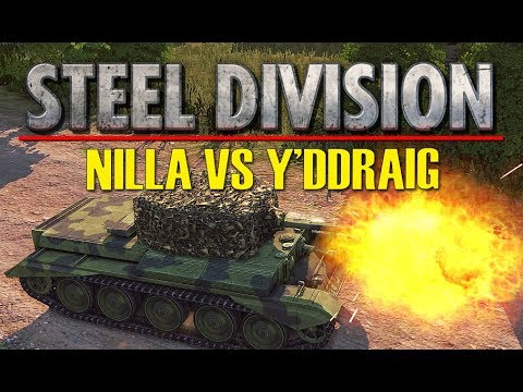 NILLA VS Y'DDRAIG Game 2! Throwback Tournament FINAL, Steel Division: Normandy 44 (Colombelles, 1v1)