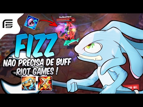 PORQUE A RIOT QUER BUFFAR ESSE CAMPEÃO ? FIZZ JUNGLE GAMEPLAY - League of Legends - Fiv5 gameplay