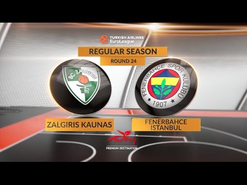 EuroLeague Highlights RS Round 24: Zalgiris Kaunas 67-76 Fenerbahce Istanbul