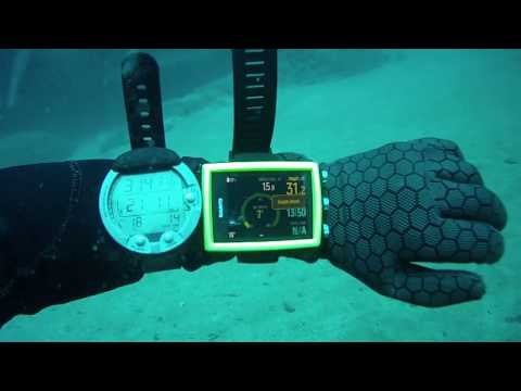 Side by side dive computer test