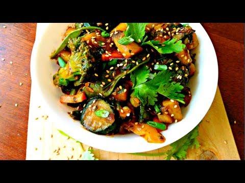 Stir fry Ngwaci (Sweet Potatoes) and Vegetables | Jikoni Magic