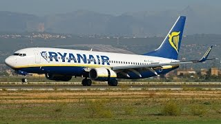 preview picture of video 'Ryanair Boeing 738s compilation At Palma de Mallorca Airport [PMI-LEPA]'