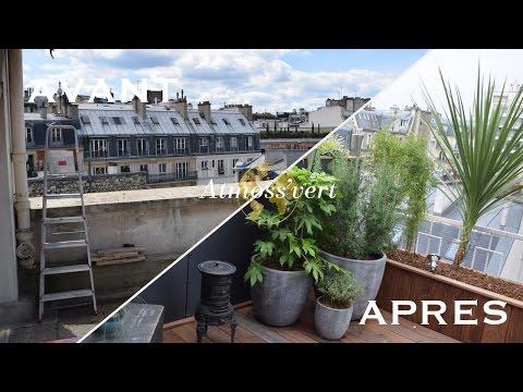 Transformation RADICALE d'une terrasse Parisienne. Ajoute snap pour en voir d'avantage! atmossvert