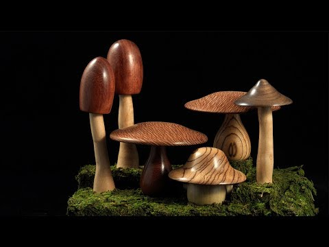 Woodturning with Tim Yoder Classics-Mushrooms Part 2