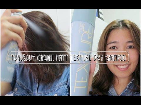 ็How To Use : วิธีใช้ Toni&Guy Casual Matt Texture Dry Shampoo