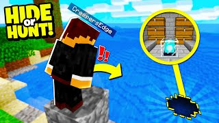 we CAUGHT Minecraft Enemies exiting there SECRET base! - Hide Or Hunt #5