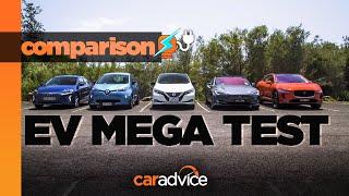 2019 ELECTRIC VEHICLE COMPARISON: I-Pace, Ioniq, Leaf, Model S, Zoe mega test