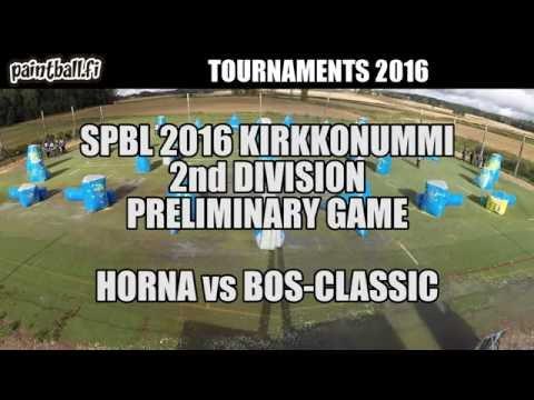 Horna vs BOS-Classic - SPBL2016 Kirkkonummi