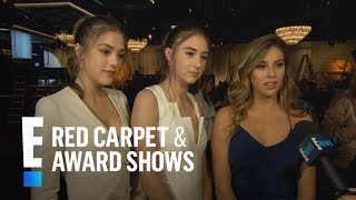 Stallone Sisters Dish On Their 2017 Golden Globes Fashion  E Live From The Red Carpet