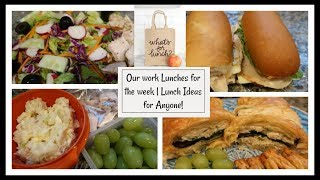 Our Work Lunches for the week | Lunch Ideas for Anyone!