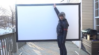 100 Inch Foldable Indoor/Outdoor Movie Projector Screen Review