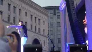 John Newman - Love Me Again концерт на Лубянской площади Москва 2015