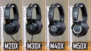 Which Studio Headphones Should You Buy? - Audio Technica ATH-M20X, M30X, M40X & M50X Review (2021)