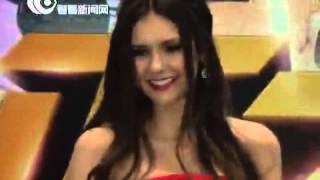 Нина Добрев и Йен Сомерхолдер, Нина в Шанхае (28.12.12)