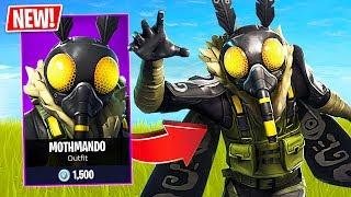 "Fortnite *NEW* Scary Moth ""Mothmando"" Skin! (Fortnite Live Gameplay)"
