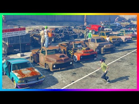 "GTA ONLINE ""LOW LIFE"" FREEMODE NO MONEY SPECIAL - RARE RUSTY GTA 5 VEHICLES, OLD SCHOOL CARS & MORE!"