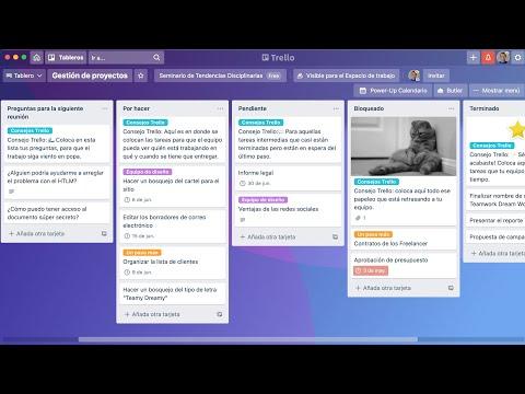 Scrum Agile (2/2): EJEMPLOS en TRELLO. BACKLOG de proyecto en SPRINTS. Procesamiento de Historias.