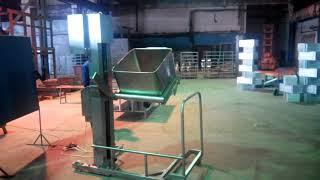 видео товара Столбовой мачтовый подъёмник-опрокидыватель передвижной